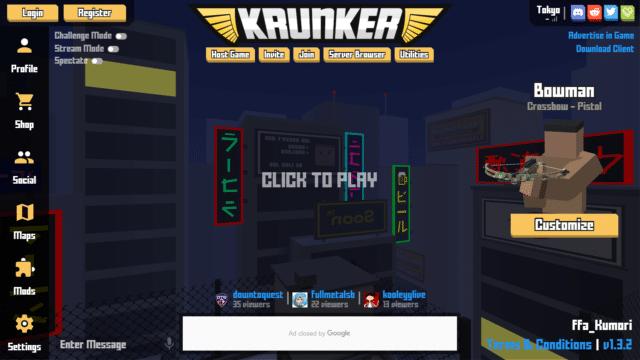 Krunker1.3.1アップデート情報