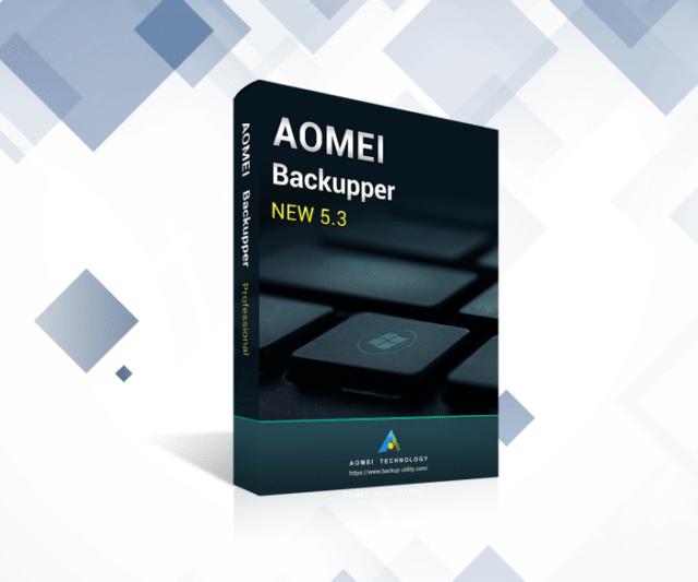 高機能なバックアップソフト! AOMEI Backupper